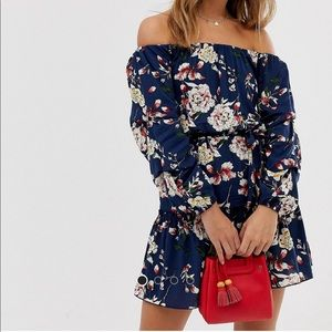 Parisian off the shoulder skater dress